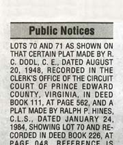 Public Notices Virginia | Virginia Press Association